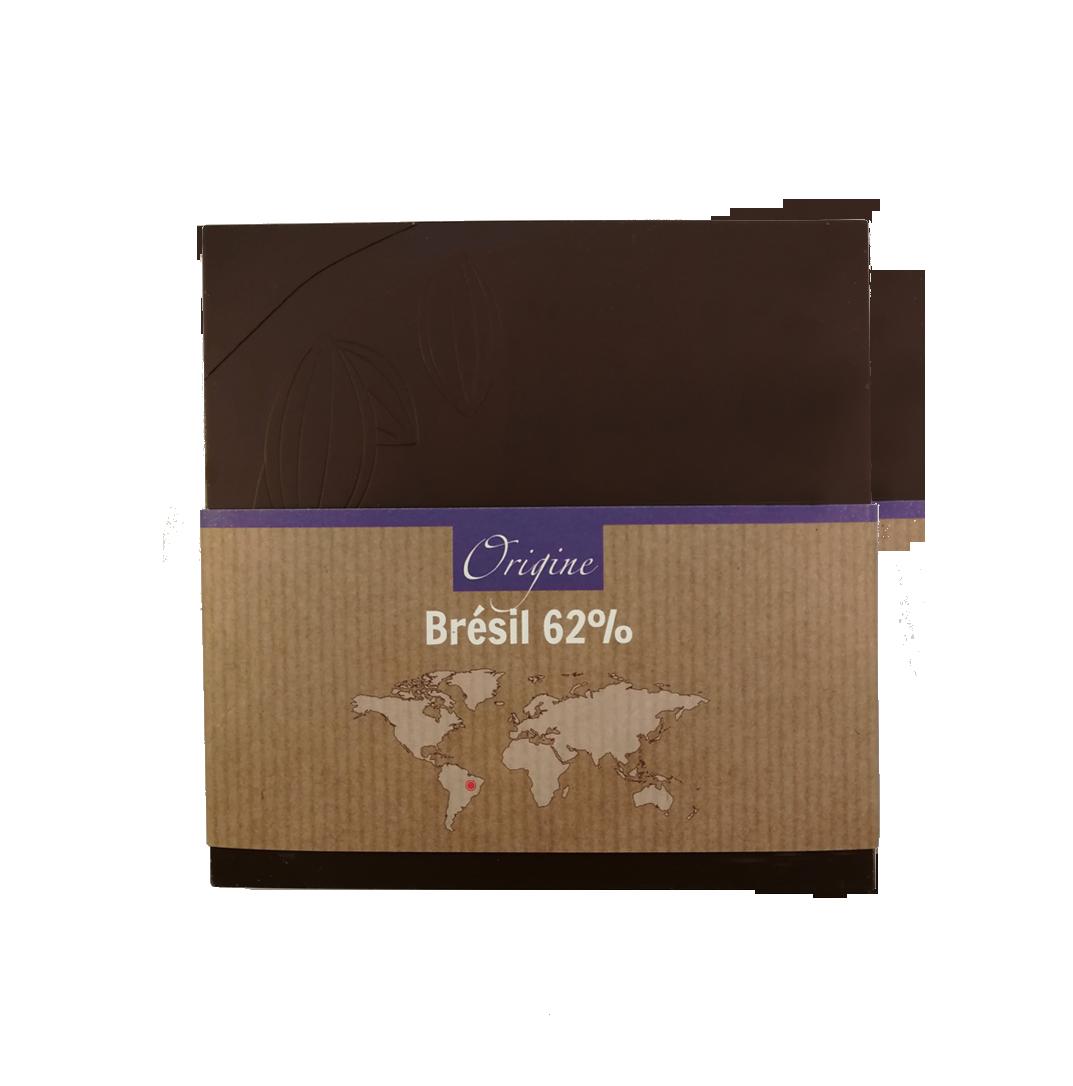 Fabrice Dumay maître chocolatier tablette - Brésil 62%