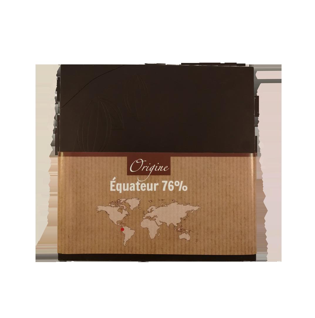 Fabrice Dumay maître chocolatier tablette - Equateur 76%