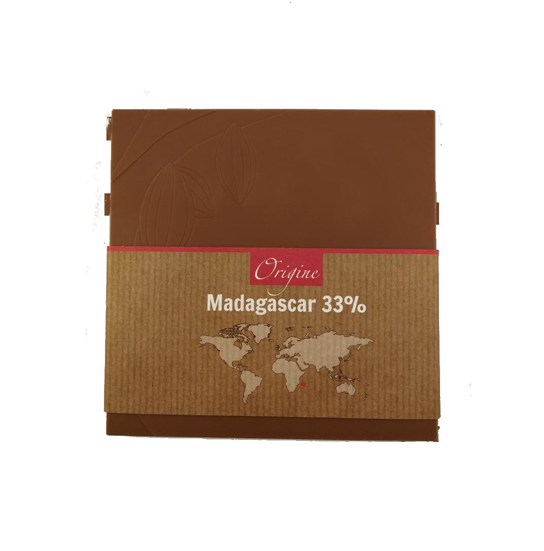 Fabrice Dumay maître chocolatier tablette - Madagascar lait 33%