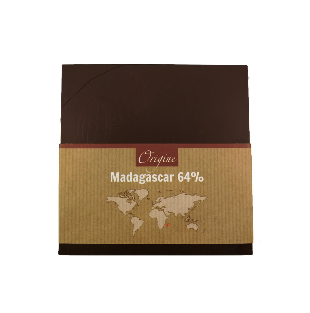 Fabrice Dumay maître chocolatier tablette - Madagascar noir 62%