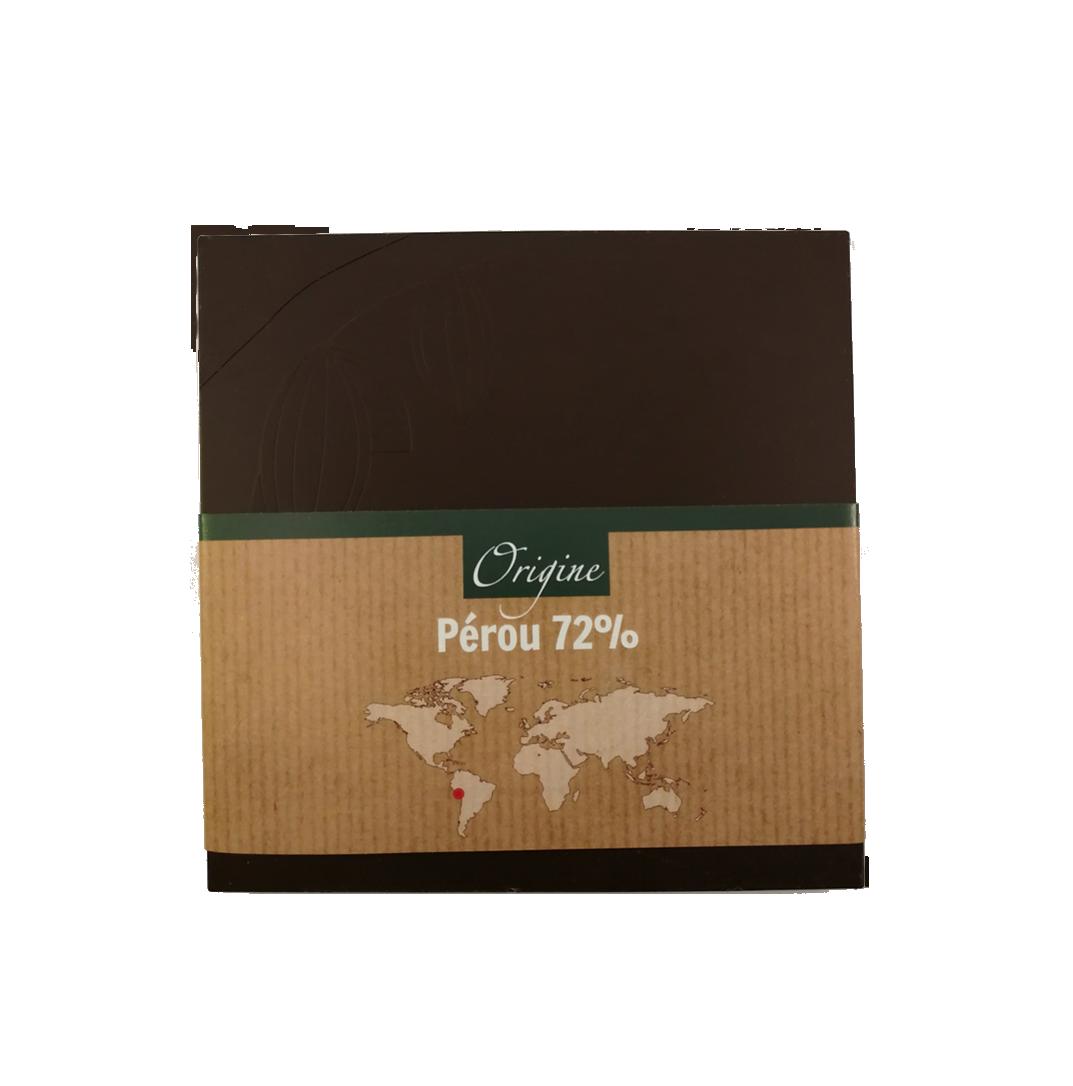 Fabrice Dumay maître chocolatier tablette - Pérou 72%