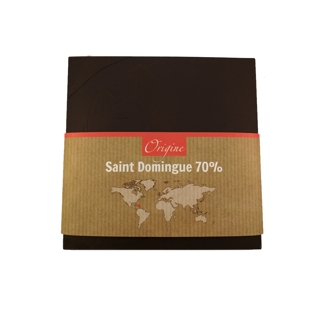Fabrice Dumay maître chocolatier tablette - Saint Domingue 70%