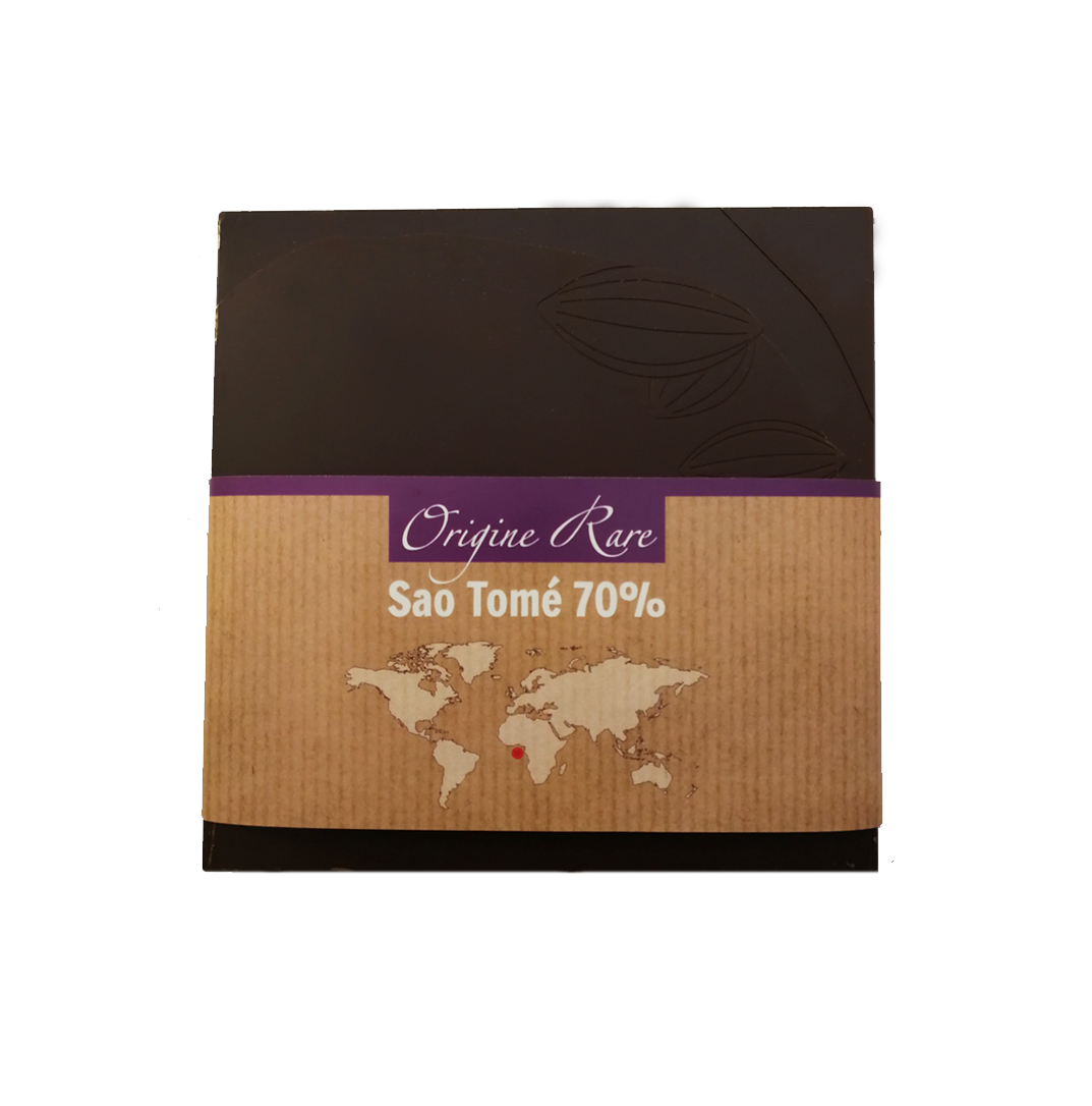 Fabrice Dumay maître chocolatier tablette - Sao Tomé 70%