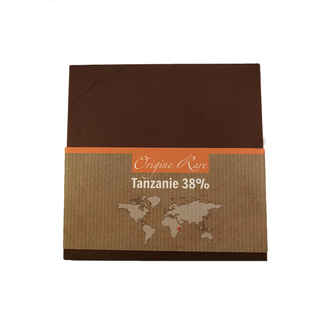 Fabrice Dumay maître chocolatier tablette - Tanzanie lait